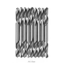YOFE 10 шт, толщина 3 мм, 3,2 мм 3,5 мм 4 мм 4,2 мм 4,5 мм 5,0 мм 5,2mm HSS с двумя концами спираль кручения буровые инструменты сверла набор