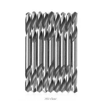 YOFE 10 sztuk 3mm 3 2mm 3 5mm 4mm 4 2mm 4 5mm 5 0mm 5 2mm HSS podwójne zakończone wiertła spiralne wiertła zestaw tanie i dobre opinie Maszyny do obróbki drewna Wiertło kręte Wiercenia drewna 1A10035 High speed steel