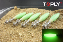 Creative 9.3cm*13.6g Noctilucent Squid Cuttlefish Sleeve Lure Hook Bait Fishhook Free Shipping
