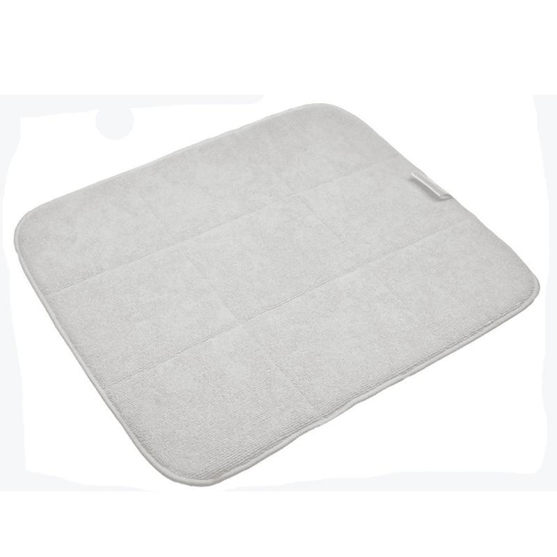 Super Absorbent Microfiber Glass Reversible Dish Drying Mat Pad