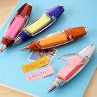 5pcs/lot 3in1 multi function Halter ballpoint pen Note Paper Flashlight Stationery with String Color Assorted school supplies