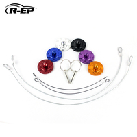 R-EP Racing Car Engine Bonnet Aluminum Hood Pin Lock with Quick Latch Universal High Quality