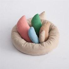Mới! Chụp Ảnh Bé Yêu Lúa Mì Donut Đặt Ra Đạo Cụ 6 Cái/bộ Gối Cho Bé Vòng Sơ Sinh Đạo Cụ Chụp Ảnh Rổ Chất Độn Fotografia