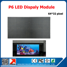 TEEHO P6 Indoor SMD RGB Full Color Led Display Module 1/16 scan 384*192mm 64*32 pixel P6 LED Module