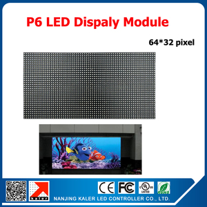 Image 1 - TEEHO P6 Indoor SMD RGB Full Color Led Display Module 1/16scan 384*192mm 64*32 pixel P6 LED Module