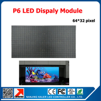TEEHO P6 Indoor SMD RGB Full Color Led Display Module 1/16scan 384*192mm 64*32 pixel P6 LED Module
