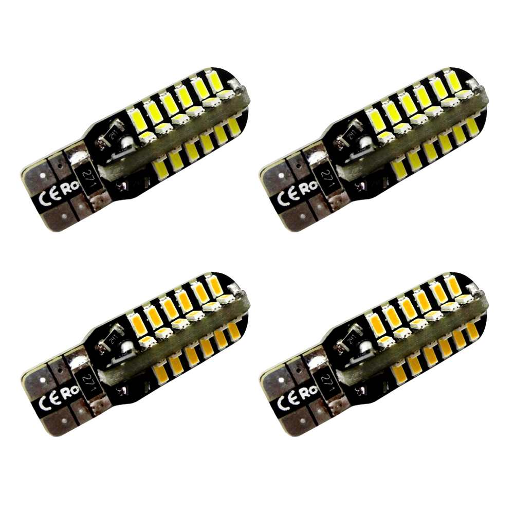 4pcs Car w5w t10 LED light 48-3014 smd Side Marker lamps Warm White Clearance Lights bulb DC 12V