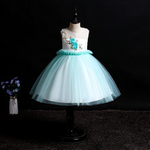 NEW baby girl clothes dress sleeveless wedding tutu Birthday party Stage performance Flower princess