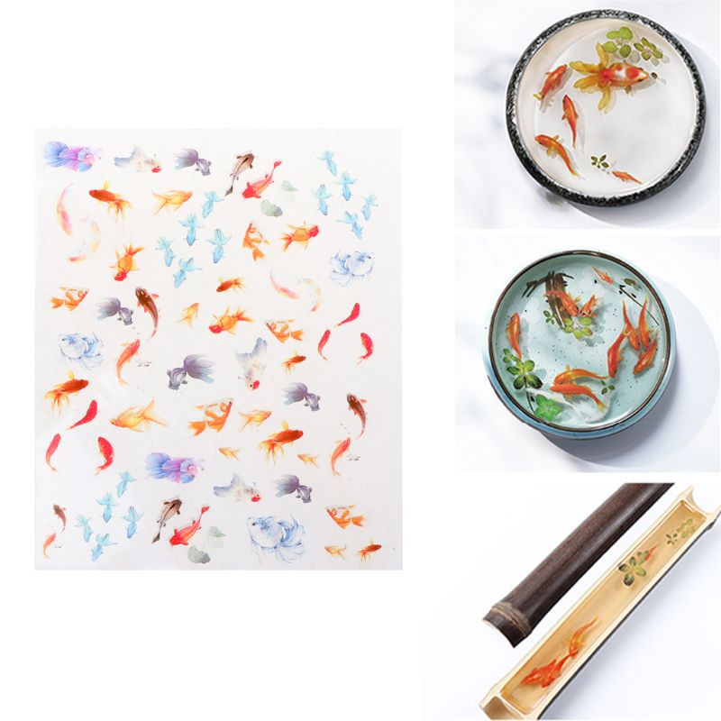 3D Goldfish Clear Film Resin <font><b>DIY</b></font> Stickers Water-Like Painting Jewelry Making image