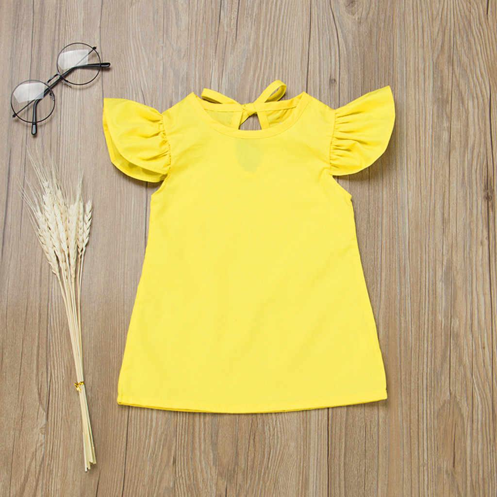 2020 שמלה עבור בנות לטוס שרוול מוצק שמלת תינוקת בגדי סוודר באורך הברך תחרות שמלות בנות vestidos דה verano