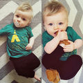 Newborn Toddler Kids Baby Boys Girls Outfits Clothes T-shirt Tops Pants 2PCS Set Baby Clothes Set Baby Clothing Set