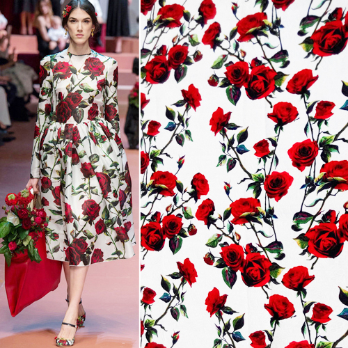 Aliexpress.com : Buy Fashion trend rose flowers print 2015 ...