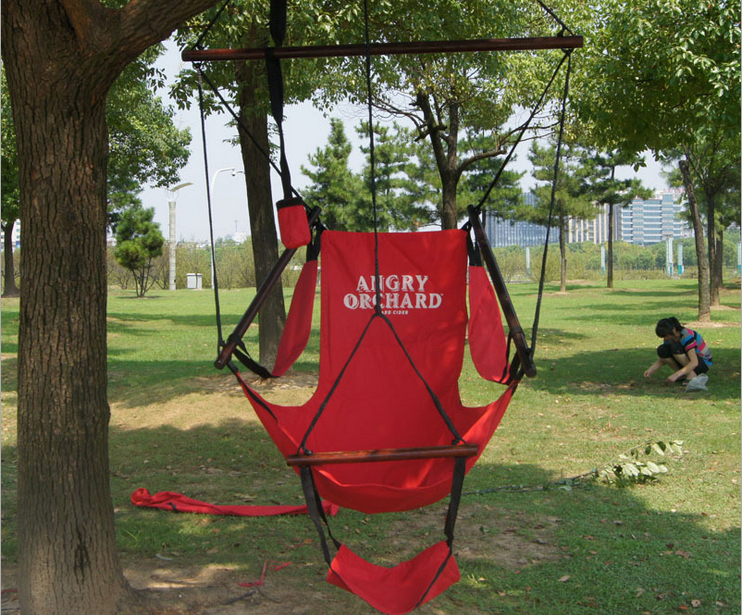 Summer Adult Casual Tree Hanging Chairs Outdoor Red Canvas