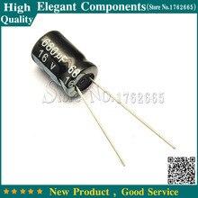 50 sztuk 680 UF 16 V 16 V/680 UF kondensator elektrolityczny rozmiar 8*12 MM 16 V 680 UF kondensator elektrolityczny aluminium