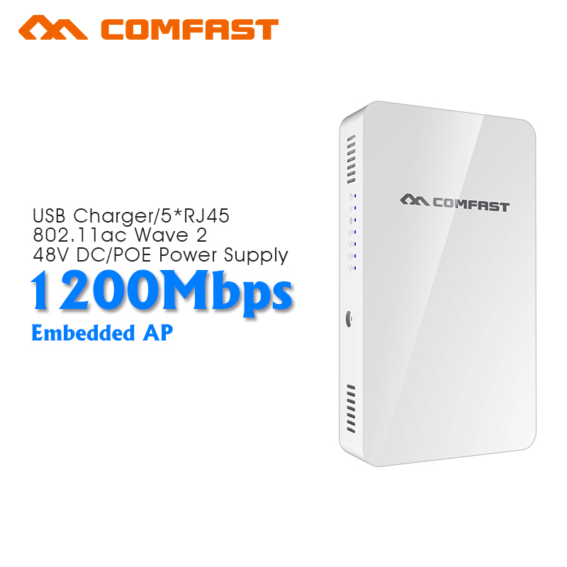 1200Mbps dual Band Gigabit Wireless in Wall AP 4 lan port home Wifi coverage Wall ap Flexiable power supply Comfast CF-E560A