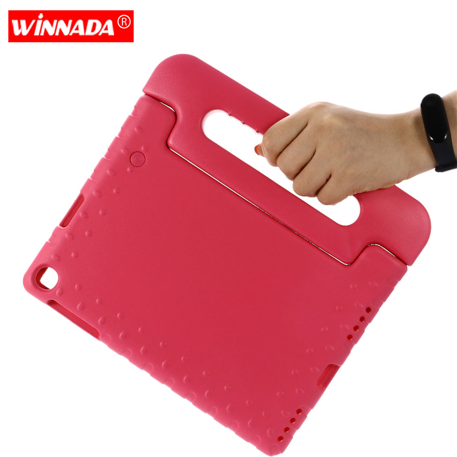 Case for Samsung galaxy Tab A 10.1 2019 SM-T510 T515 hand-held Shock Proof EVA full body cover Handle stand case for kids image