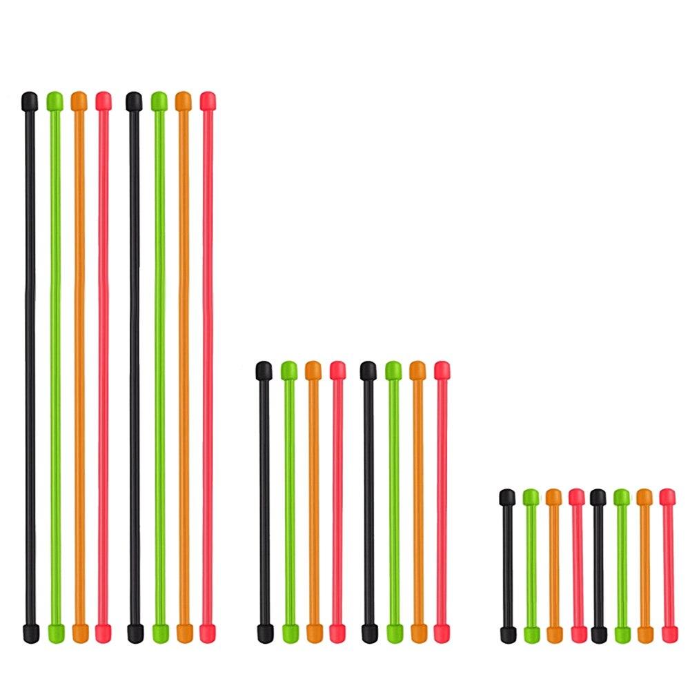ราคา 24 Pcs Reusable Multi Functional Rubber Twist Tie Gear Ties Cable Organizer For Tv Computer Headphone Cords 3 6 12 Inch Mixed Color Intl จีน