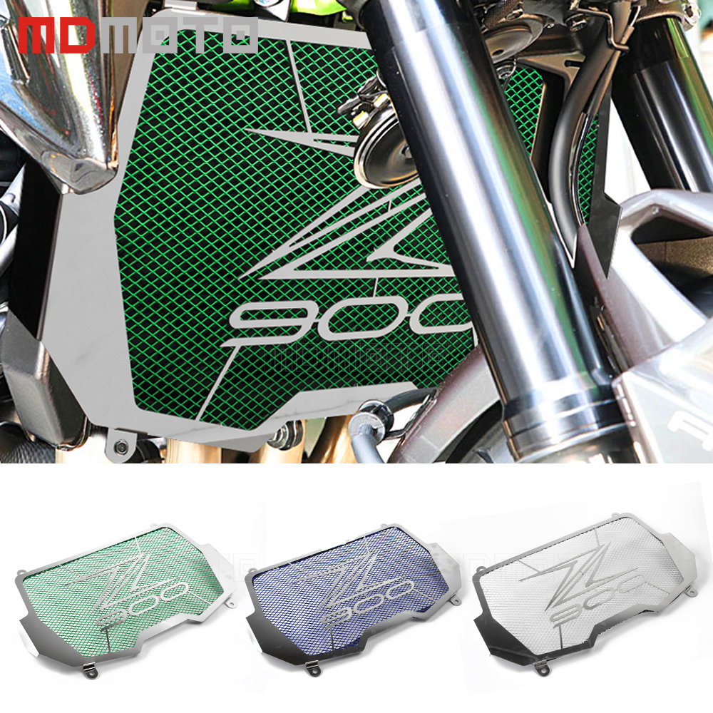MDMOTO Motorcycle Engine Radiator Bezel Grille Guard Cover Protector Grill For kawasaki z900 z 900 2017 radiator protector cover arashi motorcycle radiator grille protective cover grill guard protector for 2008 2009 2010 2011 honda cbr1000rr cbr 1000 rr