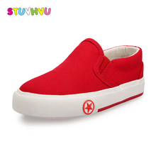 New Solid Color Children Canvas Shoes Unisex Boys Girls Casual Sneakers Slip