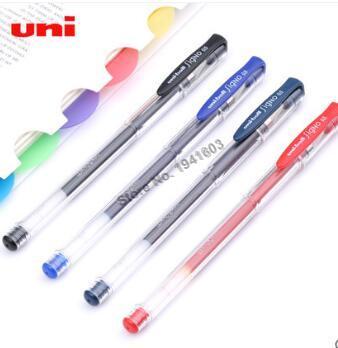 0.5mm x 10 pcs BLUE ink Uni-ball Signo UM-100  roller gel pen
