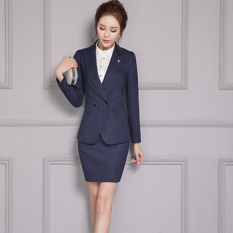 Suits & Sets Back To Search Resultswomen's Clothing Formal Office Lady Blazers Women Black Blue Slim Fit Long Sleeve Suit Casual Autumn Winter Coats Fashion Work Suits Woman Tops Reliable Performance