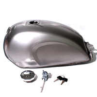 Unpainted Universal Motorcycle 9L Gas Fuel Tank Oil Box Raw Bare Metal Cafe Racer Scrambler For CFMOTO Mandrill