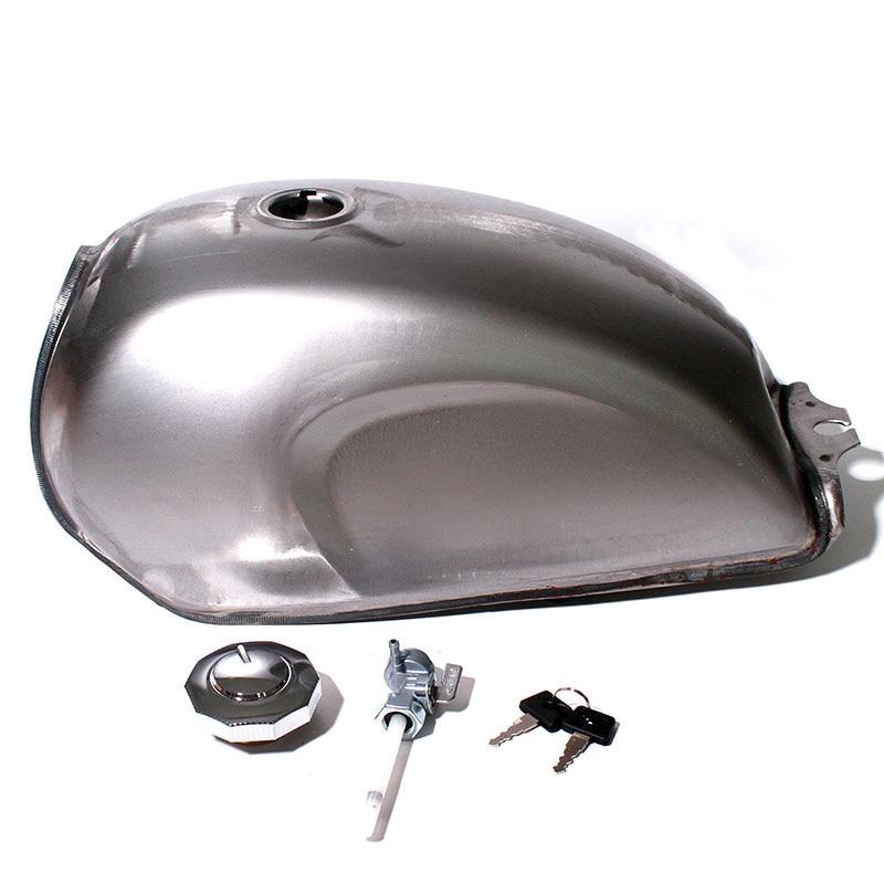 Unpainted Universal Motorcycle 9L Gas Fuel Tank Oil font b Box b font Raw Bare Metal
