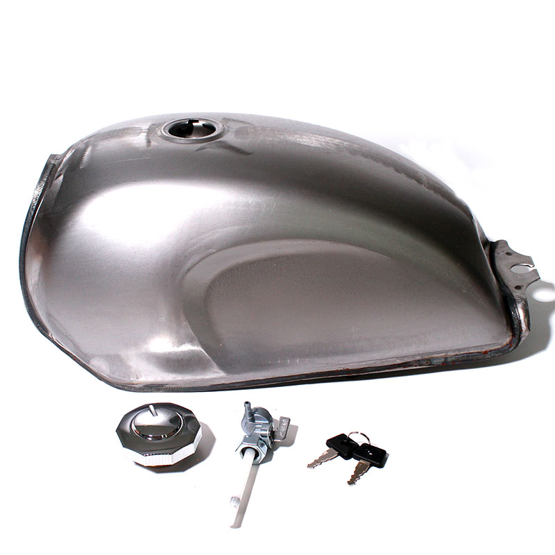Unpainted Universal Motorcycle Gas Fuel Tank Oil Box Raw Bare Metal Cafe Racer Scrambler For CFMOTO Mandrill motorcycle rafe racer fuel gas cap petrol tank cover aluminum for ducati scrambler