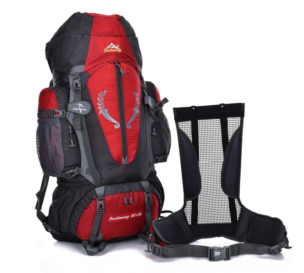 Fengtu 80L + 5L senderismo mochila para hombres camping viajar bolsa ...