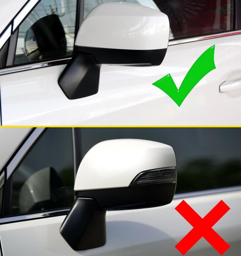 Chromed 2PCS Side Door Mirror Cover For Subar Forester 2014 2015 2016 2017 TYPE A