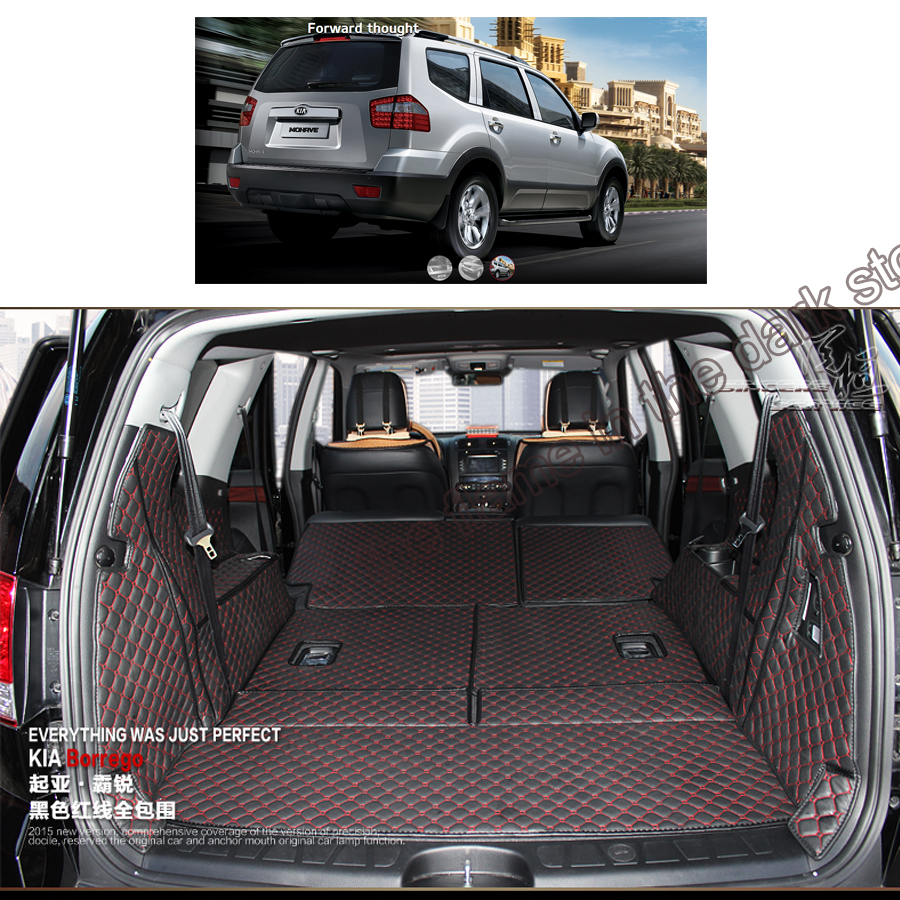 custom fit car trunk mat cargo mat for kia Borrego mohave 2008 2009 2010 2011 2012 2013 2014 2015 2016 2017 cargo liners car rear trunk security shield shade cargo cover for nissan qashqai 2008 2009 2010 2011 2012 2013 black beige