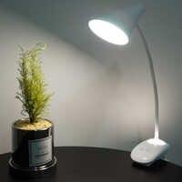 Flexo Led Schreibtisch Lampe mit Kappe Lampenschirm Touch Schalter Dimmer Studie Lampe Nacht Licht Tisch Lampen für die Schlafzimmer 18650 batterie