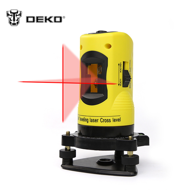 DEKOPRO LL02 Household 2 Lines Cross Laser Level 360 Rotary Cross Laser Line Leveling Can Be Used with Outdoor Receiver