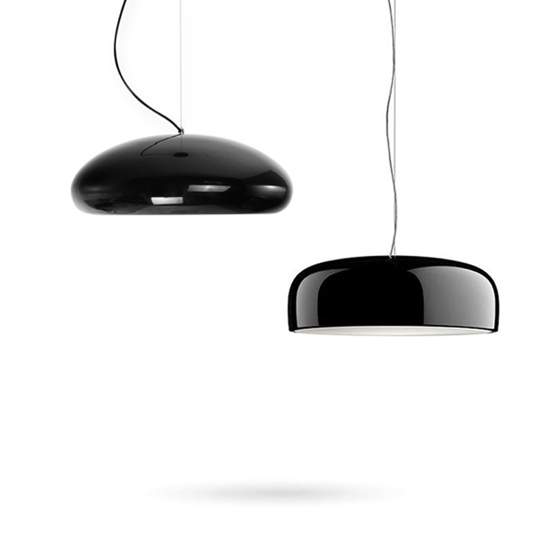 Modern Pendant Lights Kitchen Fixtures For Dining Room Glossy Black Round Hanging Lamp Shop Restaurant Decor Luminaire Suspendu ...