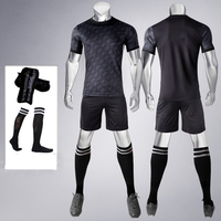 17 18 Soccer Set Jersey Shorts Blank Style Football Shirt Training Suit 4 In 1 Include