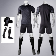 17-18 Soccer set jersey & shorts Blank style Football shirt training Suit; 4-in-1 Include jersey + shorts + Socks + Shin-guard