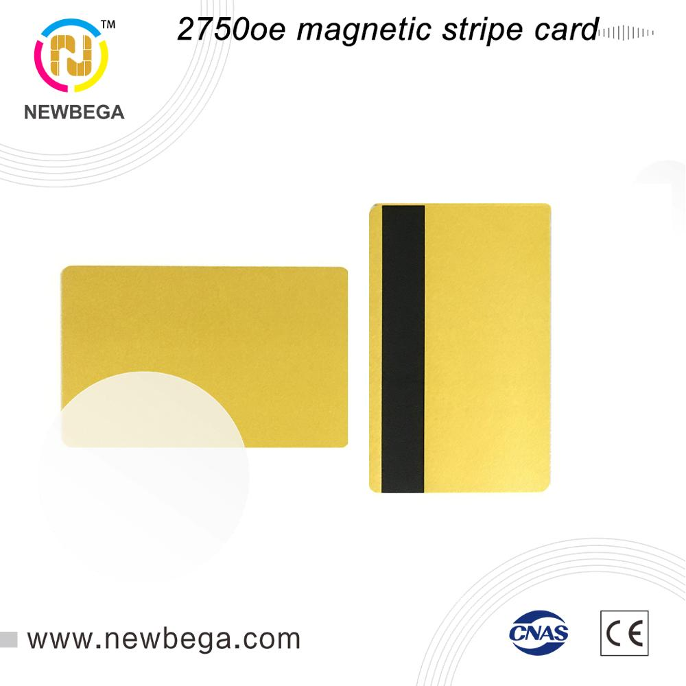 10PCS RFID 2750 Oe Magnetic Stripe Card High Diamagnetic Gold Silver Or Black Card Access Control Fast Delivery Free Shipping