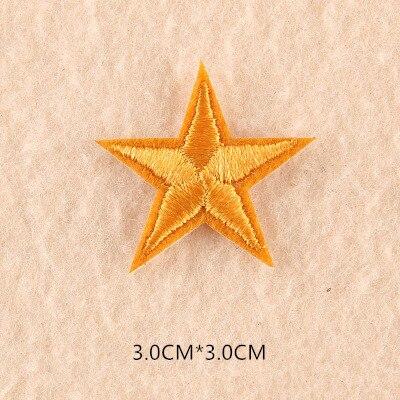 1 шт. смешанные нашивки со звездами для одежды, железная вышитая аппликация, милая нашивка эмблема на ткани, одежда, аксессуары для одежды DIY 61 - Цвет: 61Z4