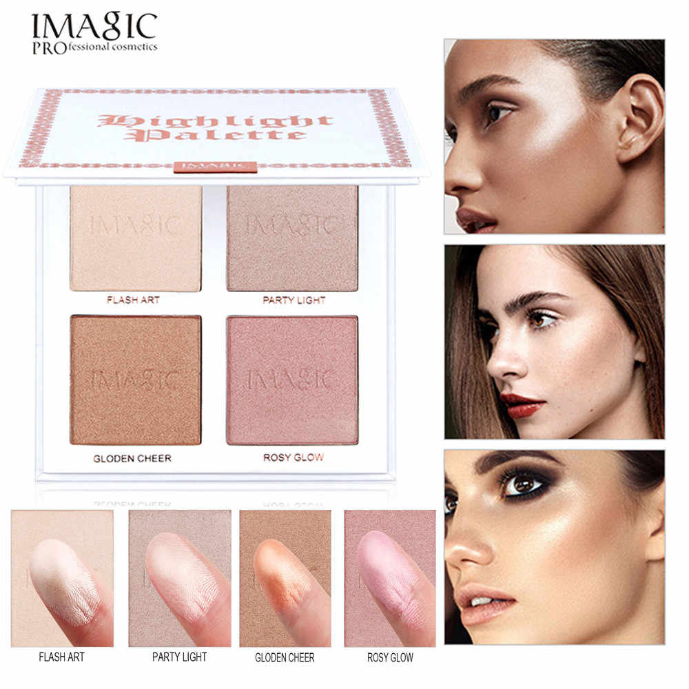 2018 yeni feshion IMAGIC 4 Renk Yüz Makyaj Kapatıcı Vakıf Paleti Kremalı Nemlendirici profesyonel göz farı paleti #9
