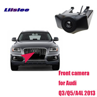 LiisLee Waterproof CCD Cars front Logo Parking Camera For Audi Q3 Q5 A4L 2013 high quality Night vision HD