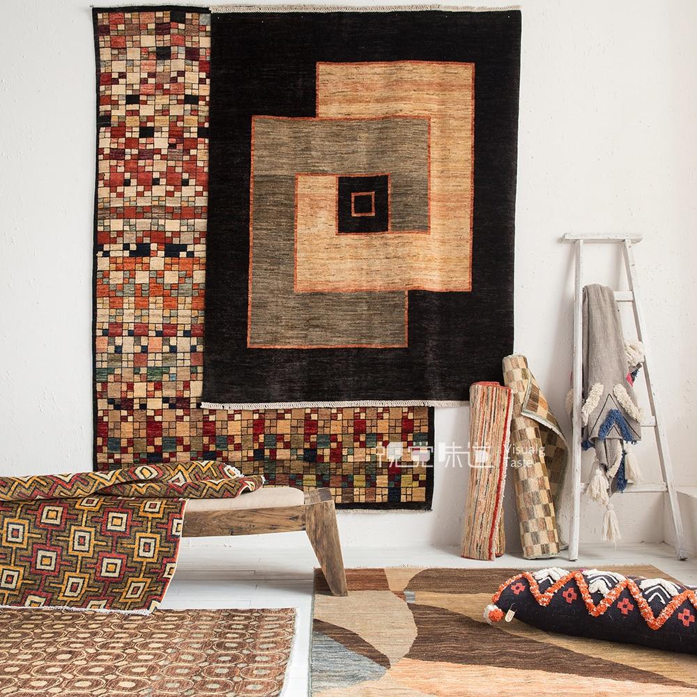 Afghanistan Kilim turquie Nation vent géométrie Europe du nord moderne un salon tapis terre coussin Orphansgc193kilimyg40
