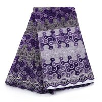 Free Shipping African Lace Fabric Purple High Quality Cheap Tulle Lace Fabric 2017 embroidered tulle fabric for dresses!506-7-1