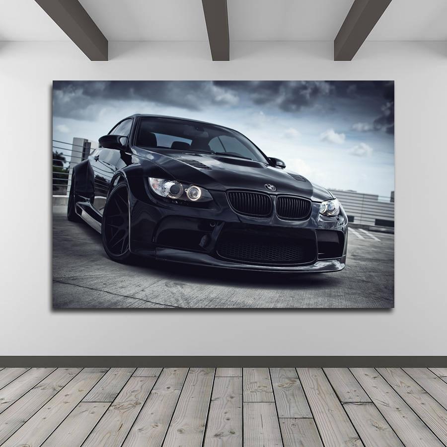 Print Poster  Vintage BMW Car art deco  Canvas Framed