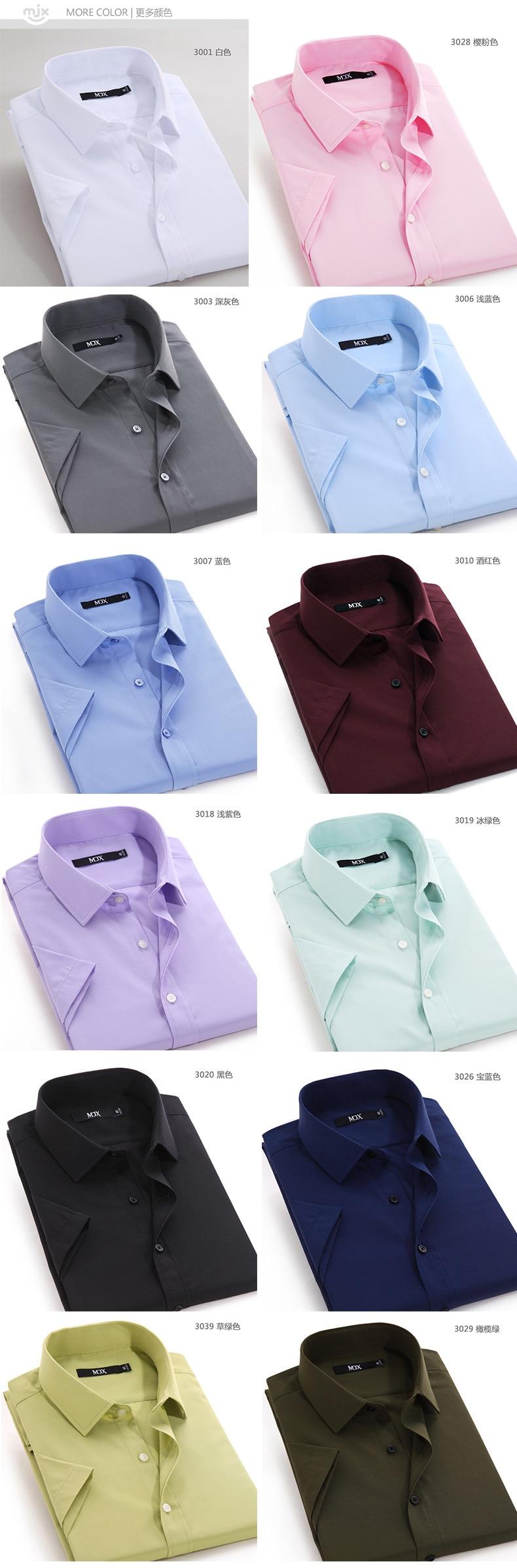 מותג גברים חולצה שרוול קצר Camisa Masculina בגדי גברים מזדמנים שמלת חולצות מוצק צבע המדים גברים 4xl אופנה חדשה 2016