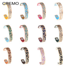 Cremo Bracelet Rose Gold Plover Stainless Steel Cuff Bangle Jewelry Interchangeable Leather Bracelet Women Bijoux Femme Pulseras(China)