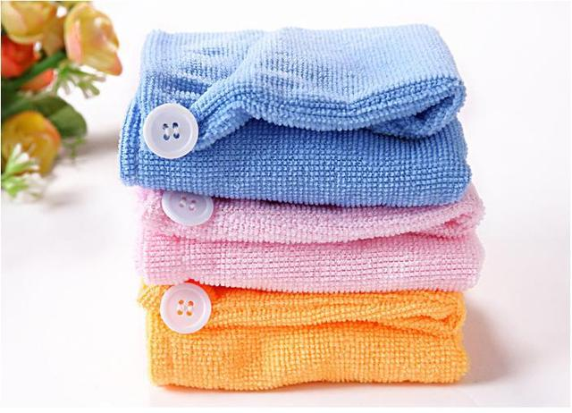 Lady Magic Turban Hair Drying Towel Fast Dryer Cap Hat Microfibre For Bath Towel wholesale