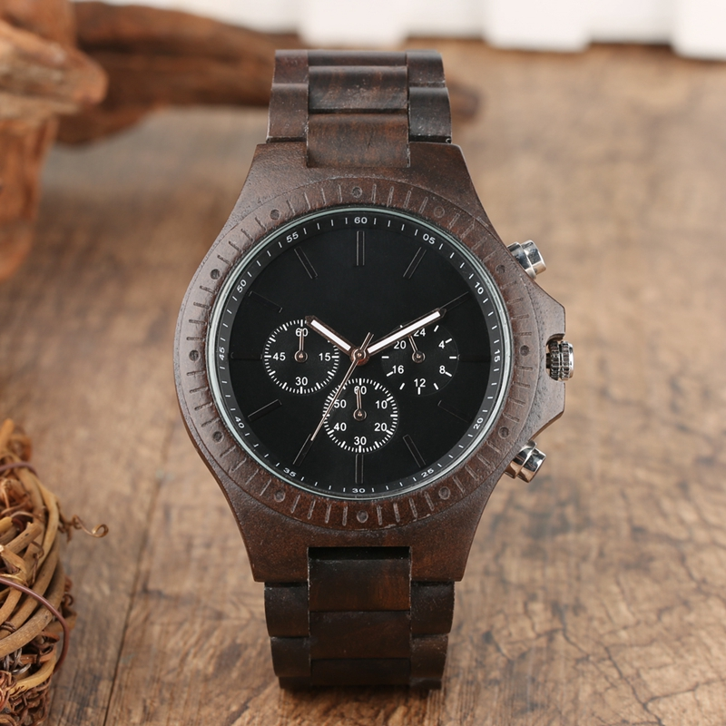 Retro Wood Men Watches Clock Man Gear Cover Top Brand Luxury Stylish Chronograph Watches Timepieces Relogio Masculino 2019 2020 2022 (2)
