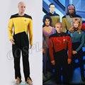 Star Trek TNG Комбинезон Костюм Следующего Поколения Хэллоуин Косплей Униформы Красный Желтый Синий