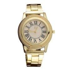 2016 Fashion Brand New Women's Watches Roman Number Stainless Steel Analog Quartz Sports Wrist Watch relogio feminino