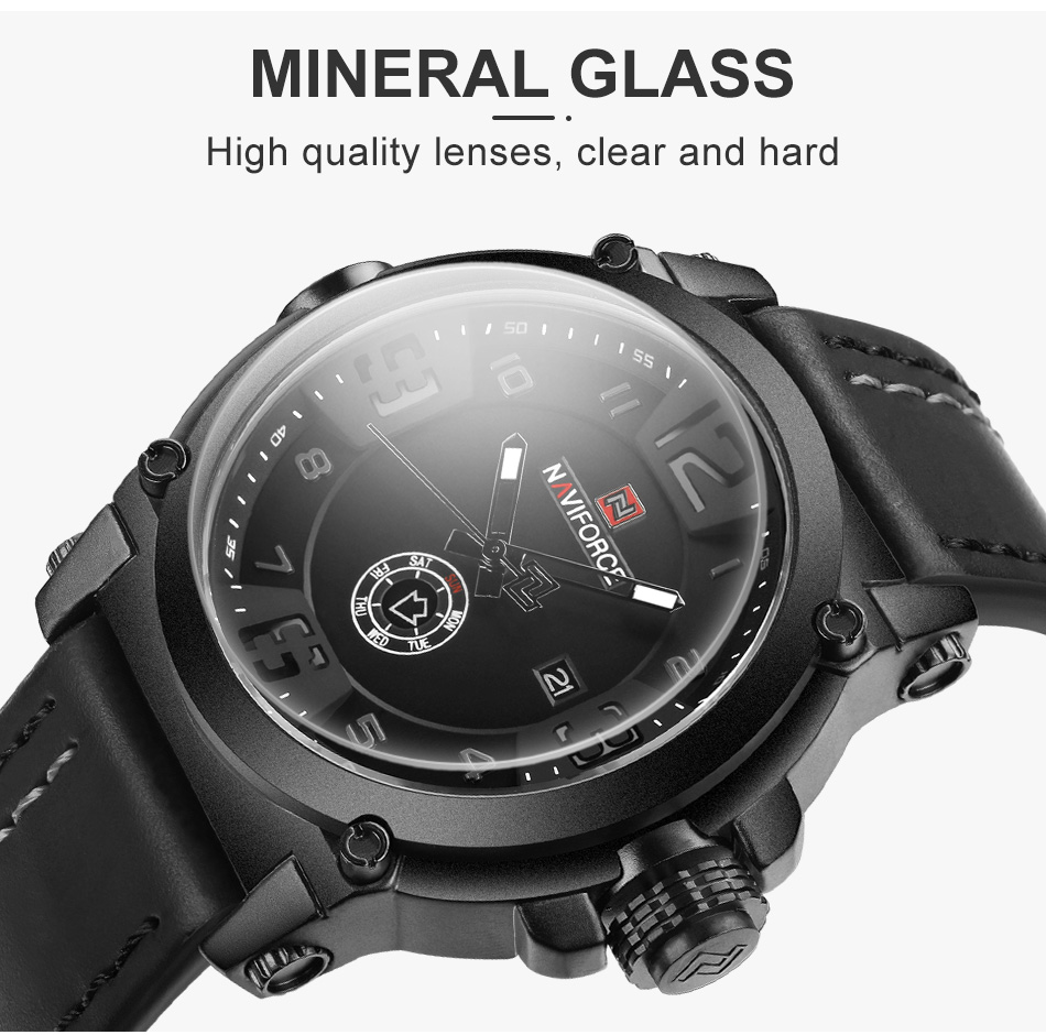 NAVIFORCE Top Luxury Brand Men Sports Military Quartz Watch Man Analog Date Clock Leather Strap Wristwatch Relogio Masculino HTB1aoele8iE3KVjSZFMq6zQhVXaq